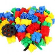 image of KIDS 60PCS 3D BRICKS BUILDING BLOCKS CREATIVE EDUCATIONAL TOY (COLORMIX) -